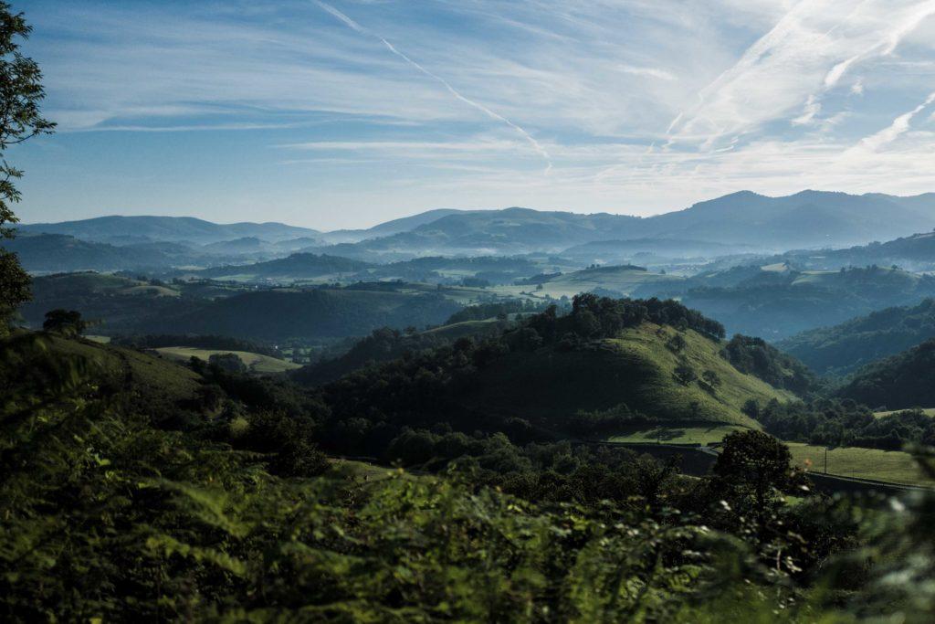 Camino de Santiago pilgrimage, mountainous Spain