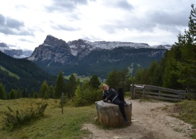Jamie in the Dolomites in Italy