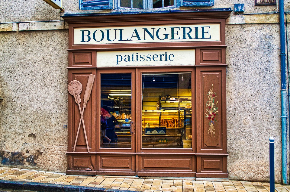 Bakery storefront in France, slow travel
