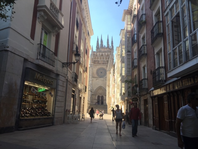 Burgos in Spain along the Camino de Santiago