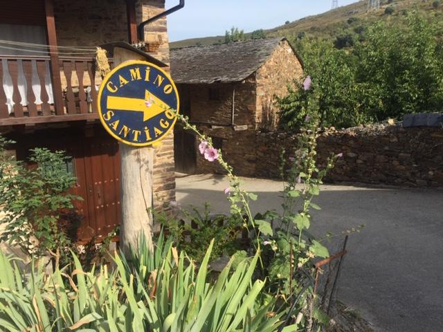 village along the Camino de Santiago in Spain
