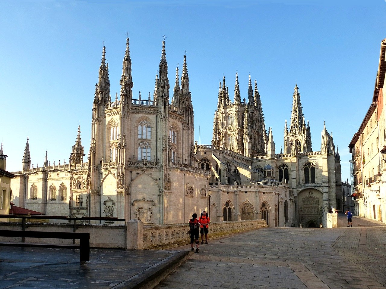 This shows a cathedral along the Camino de Santiago, one of the most popular pilgrimages