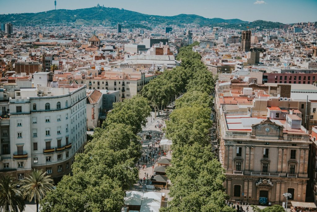 Overtourism in Barcelona city streets
