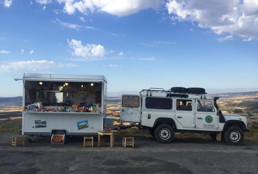 Food truck on the Camino de Santiago