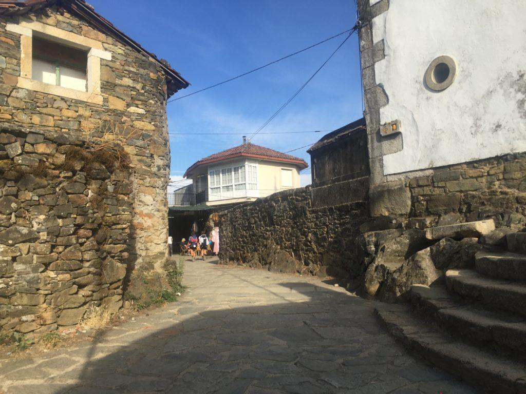 Walking the Camino, a path through a village