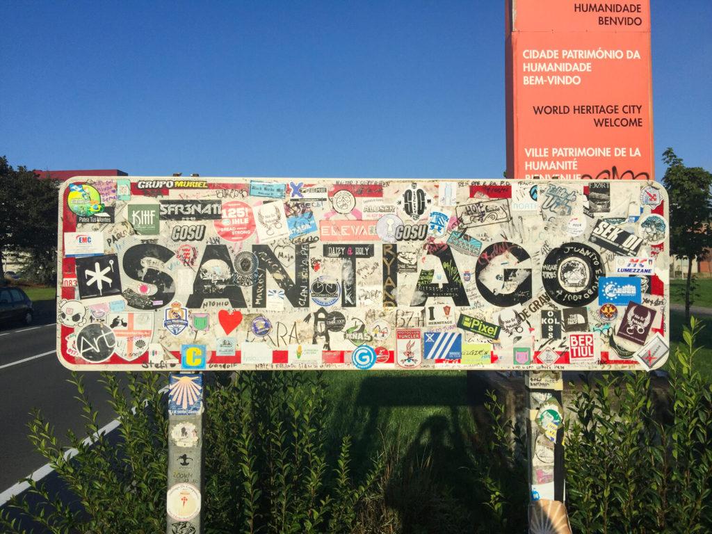 Camino: santiago sign