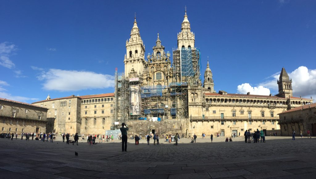 Santiago de Compostela on the Camino de Santiago