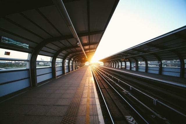 Train tracks in Spain
