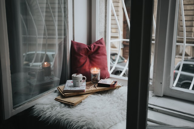 Cozy nook for daily journaling practice