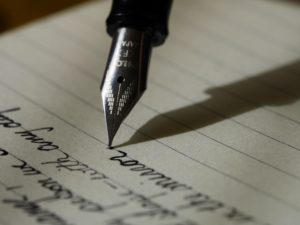 Journaling Prompts- a pen and paper