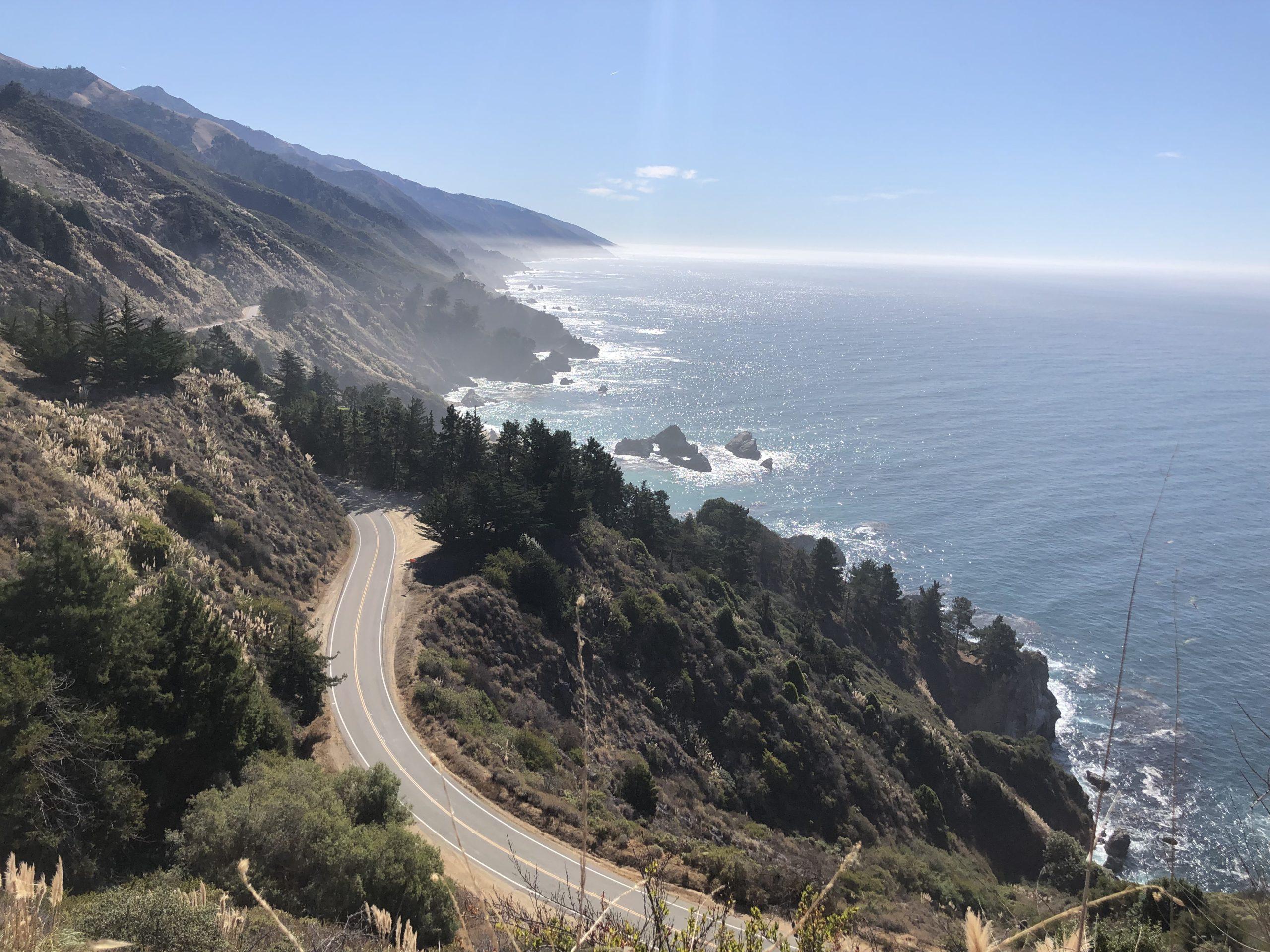 Big Sur views of ocean